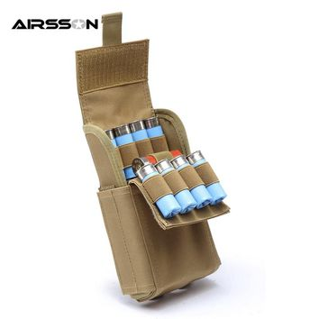 Airsson Hunting Ammo Bags Molle 25 Round 12GA 12 Gauge Ammo Reload Shells Shotgun Reload Bullet Holder Magazine Pouche Molle Bag