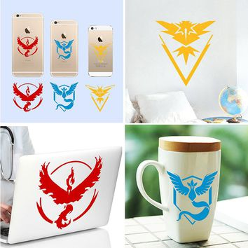 "New 2"" 4"" 8"" 11"" incn Pokemons Go Game Vinyl Decal - Team Instinct, Mystic, Valor Window laptop phone tablet Kids Wall Stickers"
