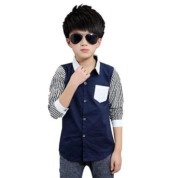 Children Striped Shirts for Boy Fashion Tops Spring Child Clothing Autumn Kid Costumes 2 4 6 8 12 Infant Shirt Baby Brand Blouse
