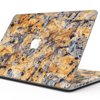 Abstract Wet Gold Paint - MacBook Pro with Retina Display Full-Coverage Skin Kit
