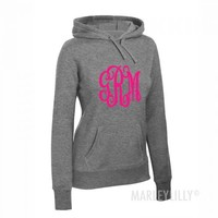Monogrammed Pullover Hooded Sweatshirt | Marleylilly