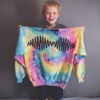 Sound Wave sweatshirt -tie dye sound wave -Chose your color fabric!