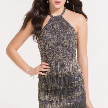 Alyce 4488 Fitted Dress with Beaded Fringe