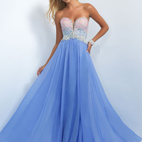 Strapless Sweetheart Blush Prom Dress 11097