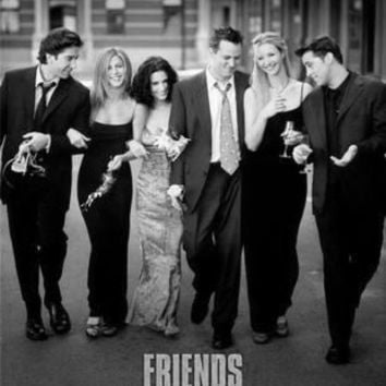 "Friends Poster Black and White Poster 24""x36"""