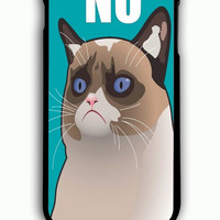 iPhone 6 Plus Case - Rubber (TPU) Cover with Cactus the Cranky Cat Rubber Case Design