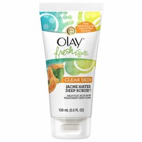 Olay Fresh Effects Clear Skin Acne Hater Deep Scrub Salicylic Acid Acne Treatment Deep Scrub, Citrus/Mint