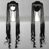 Fahion styleIs Is It Wrong to Try to Pick Up Girls in a Dungeon? Hestia woman Cosplay Wigs Two Ponytail wigs,Colorful Candy Colored synthetic Hair Extension Hair piece 1pcs WIG-580A