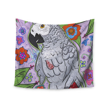 "Rebecca Fisher ""Rio"" Multicolor Parrot Wall Tapestry"