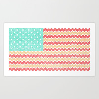 Zig Zag Flag. Art Print by Nick Nelson | Society6
