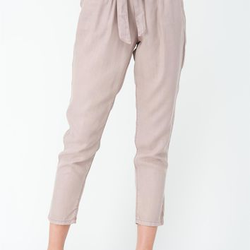 Flynn Tencel Tie Pants in Blush