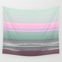 Early Morning Seas 2 Wall Tapestry by Jennifer Warmuth Art And Design