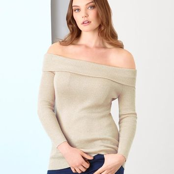 Just Joan Shimmer Knit Bardot