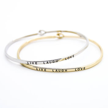 Live Laugh Love bangle bracelet