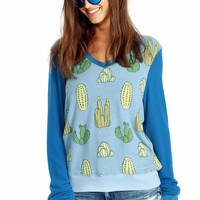 Cacti V-Neck Baggy Beach Jumper
