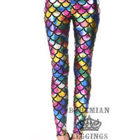 Multi-colored  Mermaid Leggings
