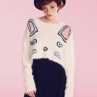 Fuzzy Baby Cropped Billy Sweater