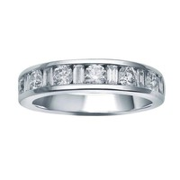 1ct tw Diamond Anniversary Ring in 14K White Gold - Jewelry & Gifts