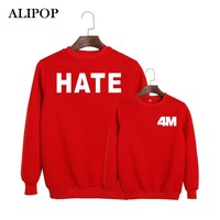 ALIPOP KPOP Korean Fashion 4minute Album Act7 HATE MV Cotton Hoodies K-pop Pullovers Sweatshirts PT068