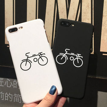 Fashion Bicycle Pattern Phone Case For iphone 7 Case For iphone 7 7 Plus 6s 6 Plus 5s 5 SE Hard PC Couples Phone Cover Coque  -03129