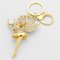 Tinkerbell Gold Keychain