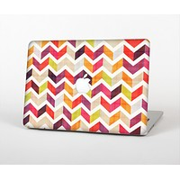 """The Colorful Segmented Scratched ZigZag Skin Set for the Apple MacBook Air 13"""""""