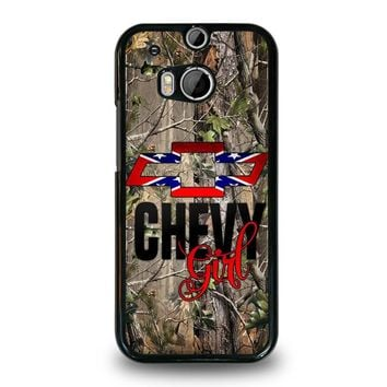 CAMO BROWNING REBEL CHEVY GIRL  HTC One M8 Case Cover