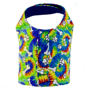 Tie Dye Bones Dog Vest Harness
