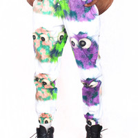 Fuzzy Monster Cotton Pants - 50% OFF
