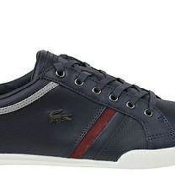 Lacoste Mens Shoes Rayford 7 SRM Dark Blue Leather