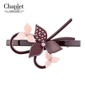 Chaplet 2016 New High Quality Flower Hair Accessories Barrettes Contrast Girls Hair Clip Korea Design Hair Jewelry Free Shipping