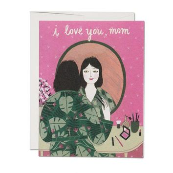 RED CAP CARDS MOTHER'S POWDER ROOM CARD