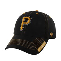 '47 Brand Pittsburgh Pirates Dark Twig MVP Adjustable Baseball Cap - Adult, Size: One Size (Black)