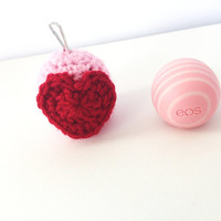 EOS Holder/EOS Lip Balm Cozy/EOS/Valentine's Day eos Holder - with Clip