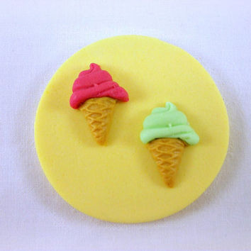 12 Ice Cream Cupcake / Cookie Toppers, Ice Cream Party Toppers, Ice Cream Birthday, Summer Cupcake, Summer Party, Summer Baby Shower