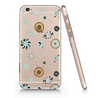 Sun And Moon Pattern Transparent Plastic Phone Case for Iphone 6 6s