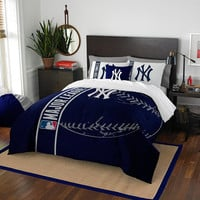 New York Yankees MLB Full Comforter Set (Soft & Cozy) (76 x 86)