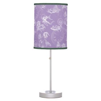Alice in Wonderland Tea Time Lavender Purple Lamp