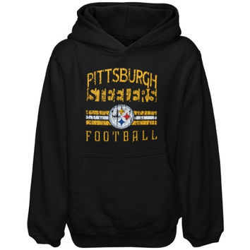 Pittsburgh Steelers Youth Pregame Pullover Hoodie - Black - http://www.shareasale.com/m-pr.cfm?merchantID=7124&userID=1042934&productID=520926131 / Pittsburgh Steelers