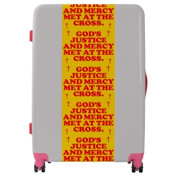 God's Justice And Mercy Met At The Cross. Luggage
