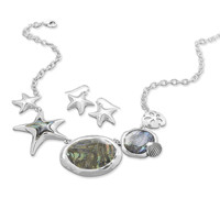 Sea Life Fashion Necklace and Earring Set