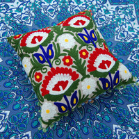 Suzani Cushion Covers Indian Art Uzbekistan Style Handmade Embroidered Cushion Covers Christmas Gift Decorative Pillows Gift for him or her
