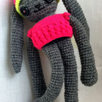 Valentine's Day gift Rabbit a gift on Valentine's Day gift for her Gift for a child Knitted animals Funny Valentine