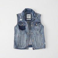 Womens Denim Vest | Womens Outerwear & Jackets | Abercrombie.com