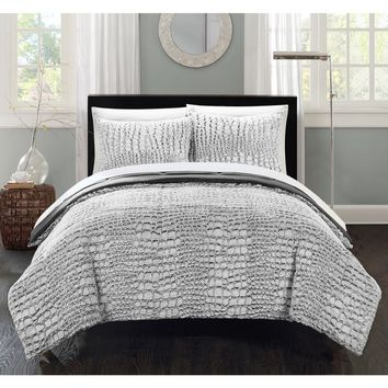 Chic Home Caimani Grey Faux Fur Queen 7-piece Comforter Set | Overstock.com Shopping - The Best Deals on Comforter Sets