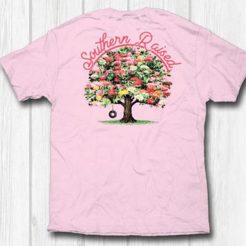 """Southern Raised """"Floral Tree"""" Tee on Comfort Colors"""