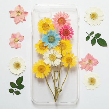 daisy iPhone 6s Case, iPhone 6s Plus Case Clear, Pressed Flower iPhone 6 Case, Clear iPhone 6s Case, iPhone 6s Plus Case, iphone 6 case