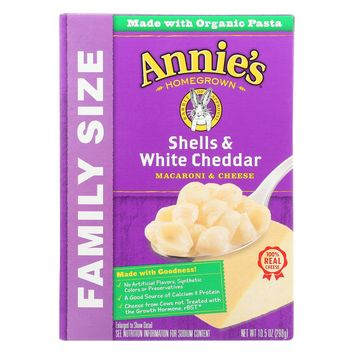 Annie's Homegrown Shells and White Cheddar Macaroni & Cheese - 10.5 oz