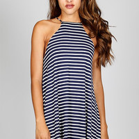 Everyday Stripe Dress - Navy