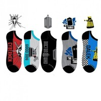Doctor Who 5 Pack Socks (Size 9-13)